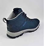 Ботинки ЗИМНИЕ Мужские Синие Кроссовки МЕХ (размеры: 41,42,43,45,46) Видео Обзор, фото 5