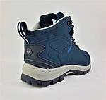 Ботинки ЗИМНИЕ Мужские Синие Кроссовки МЕХ (размеры: 41,42,43,45,46) Видео Обзор, фото 7