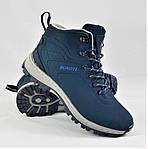 Ботинки ЗИМНИЕ Мужские Синие Кроссовки МЕХ (размеры: 41,42,43,45,46) Видео Обзор, фото 8