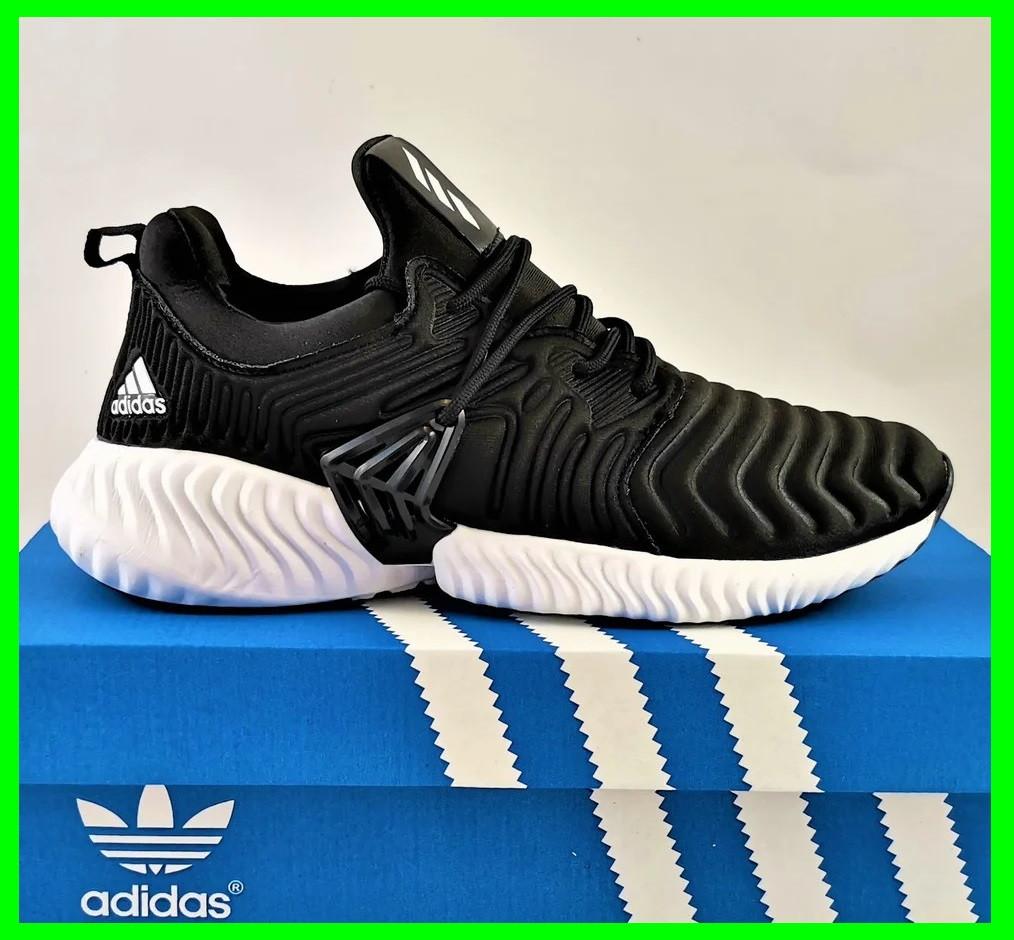 Кроссовки Мужские Adidas Alphabounce Чёрные Адидас (размеры: 44) Видео Обзор
