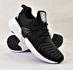Кроссовки Мужские Adidas Alphabounce Чёрные Адидас (размеры: 44) Видео Обзор, фото 2