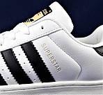 Кроссовки Adidas Superstar Белые Адидас Суперстар (размеры: 41,42,43,45) Видео Обзор, фото 4