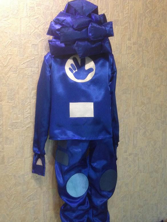 Дитячий карнавальний костюм фиксик нулик і рюкзак-помогатор