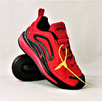Кросівки N!ke Air Max 720 Червоні з Чорним Найк Жіночі (розміри: 36,37,38,39) Відео Огляд, фото 2