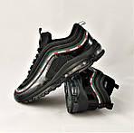 Кросівки N!ke Air Max 97 Чорні Найк Чоловічі (розміри: 42,43,44,45) Відео Огляд, фото 6
