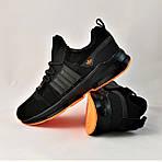 Кроссовки Мужские Adidas Черные Адидас (размеры: 42,43,44,45) Видео Обзор, фото 8