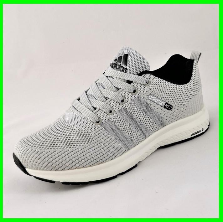 Кроссовки Adidas Neo Серые Адидас Мужские (размеры: 40,41,42,43,44,45) Видео Обзор
