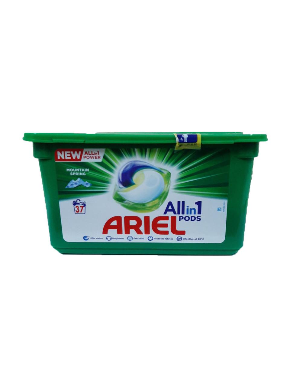 Средство д/стирки Ariel 3в1 White капсулы 37шт.