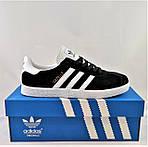 Кроссовки Adidas Gazelle Черные Адидас Женские (размеры: 37,38,41) Видео Обзор, фото 3