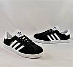 Кроссовки Adidas Gazelle Черные Адидас Женские (размеры: 37,38,41) Видео Обзор, фото 8