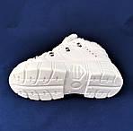 Зимние Женские Кроссовки на Меху Белые Высокая Подошва на Платформе (размеры: 37,38,39) ВидеоОбзор - 613, фото 6