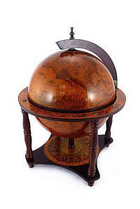 Глобус бар на 4-х ножках  360 мм. коричневый