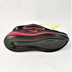 Кросівки N!ke Air Max 720 Чорні з Червоним Чоловічі Найк (розміри: 40,41,42,44,45) Відео Огляд, фото 4