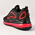 Кросівки N!ke Air Max 720 Чорні з Червоним Чоловічі Найк (розміри: 40,41,42,44,45) Відео Огляд, фото 5