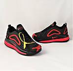 Кросівки N!ke Air Max 720 Чорні з Червоним Чоловічі Найк (розміри: 40,41,42,44,45) Відео Огляд, фото 7