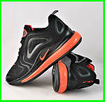 Кроссовки N!ke Air Max 720 Чёрные с Оранжевым Мужские Найк (размеры: 41,43,44,45,46) Видео Обзор, фото 10