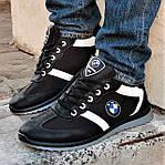 Мужские Кроссовки BMW Чёрные Мокасины (размеры: 42,43,44,45), фото 7