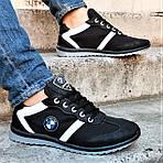 Мужские Кроссовки BMW Чёрные Мокасины (размеры: 42,43,44,45), фото 8