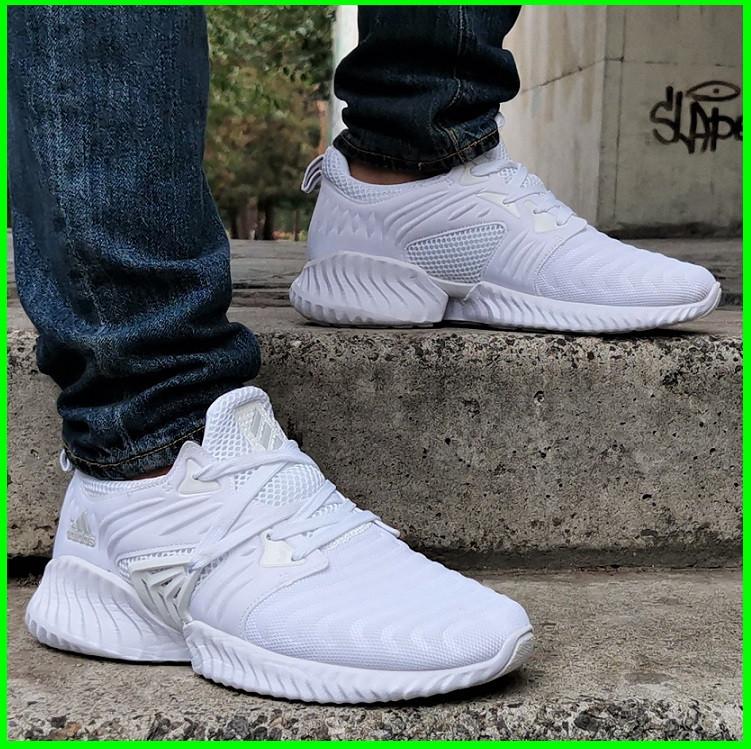 Кроссовки Мужские Adidas Alphabounce Белые Адидас (размеры: 41,42,43,44) Видео Обзор