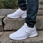 Кроссовки Мужские Adidas Alphabounce Белые Адидас (размеры: 41,42,43,44) Видео Обзор, фото 2