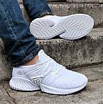 Кроссовки Мужские Adidas Alphabounce Белые Адидас (размеры: 41,42,43,44) Видео Обзор, фото 7