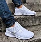 Кроссовки Мужские Adidas Alphabounce Белые Адидас (размеры: 41,42,43,44) Видео Обзор, фото 8