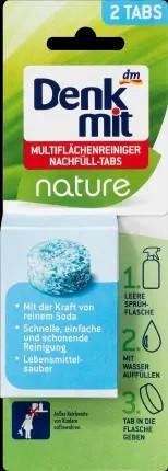 Denkmit Multiflächenreiniger Nature Nachfüll-tab Универсальный очиститель, сменная таблетка 2 шт.