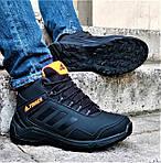 Зимові Кросівки ADIDAS TERREX з ХУТРОМ Чорні Чоловічі Черевики Адідас (розміри: 46)Відеоогляд, фото 8