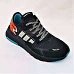 Кроссовки Мужские Adidas Jogger Чёрные Адидас (размеры: 41,42,43,44,45,46) Видео Обзор, фото 6