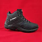 Зимние Кроссовки ADIDAS TERREX с МЕХОМ Черные Мужские Ботинки Адидас (размеры: 41,42,43,45)ВидеоОбзор, фото 8