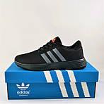 Кроссовки Adidas Мужские Черные Адидас BOOST (размеры: 41,42,43,44,45) Видео Обзор, фото 5