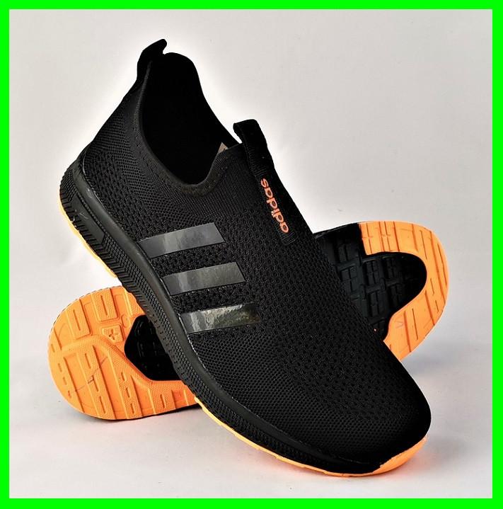 Кроссовки Adidas Сеточка Мужские Черные Летние Адидас Мокасины (размеры: 41,42,43,45) Видео Обзор