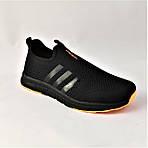 Кроссовки Adidas Сеточка Мужские Черные Летние Адидас Мокасины (размеры: 41,42,43,45) Видео Обзор, фото 5