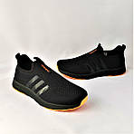 Кроссовки Adidas Сеточка Мужские Черные Летние Адидас Мокасины (размеры: 41,42,43,45) Видео Обзор, фото 9