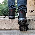 Ботинки ЗИМНИЕ Мужские Colamb!a Кроссовки на Меху Чёрные (размеры: 40,41,45) Видео Обзор, фото 5