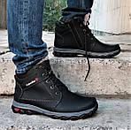 Ботинки ЗИМНИЕ Мужские Colamb!a Кроссовки на Меху Чёрные (размеры: 40,41,45) Видео Обзор, фото 6