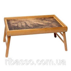 Столик для завтрака в постели PN04 парусник на карте