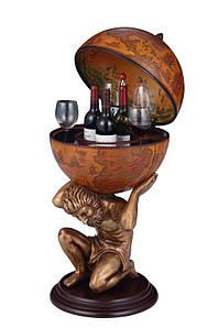 Глобус бар статуя напольный коричневый 420 мм