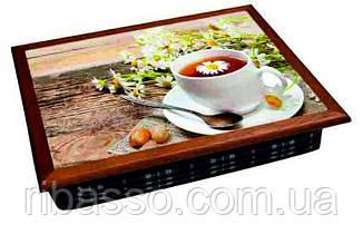Поднос цветной 040290 чай с ромашкой