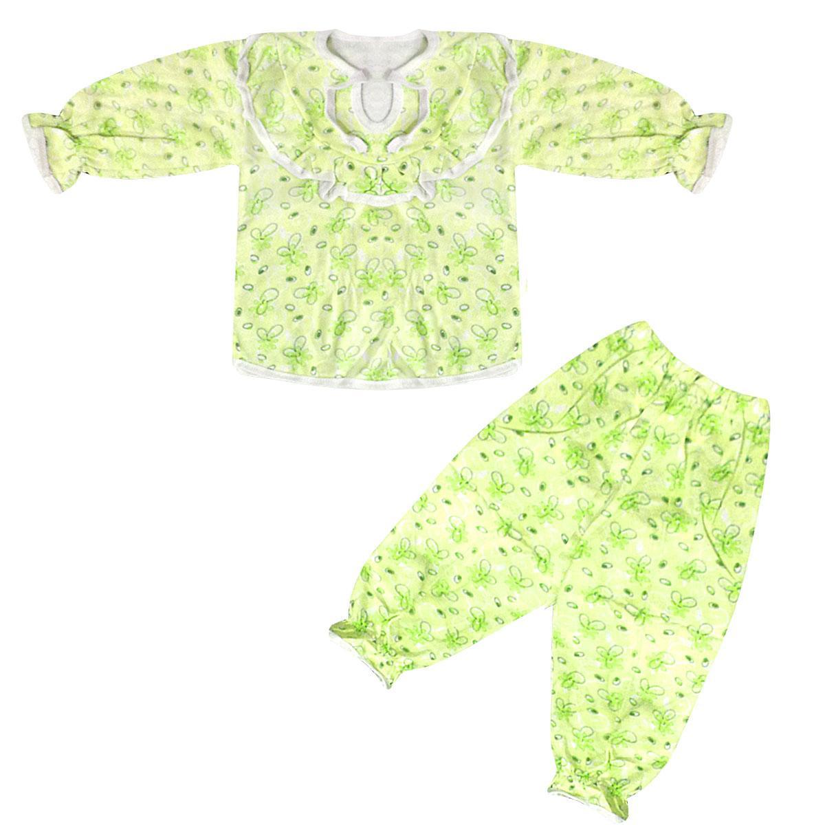 Цветная детская пижама для девочки начес