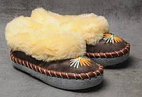 Комнатные тапочки c овечьей шерстю, розмер 36