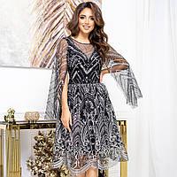 """Золотисте випускний пишну сукню з блискітками """"Злата міні"""", фото 1"""