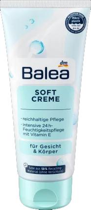 Balea Soft Creme легкий Зволожуючий крем для обличчя і тіла 100 мл