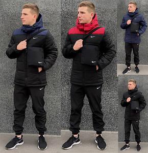 "Мужской Зимний комплект ""Euro"" синяя + штаны President IN-1586879783"