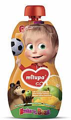 """Дитяче  фруктове  пюре Маша i Ведмiдь """"Яблуко ,манго ,апельсин і морква""""  100 гр від 6 міс"""