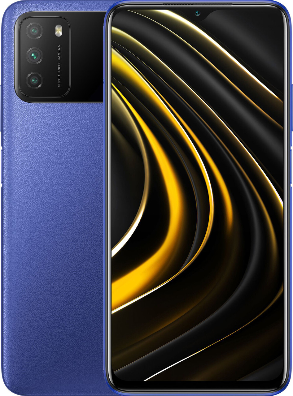 Xiaomi POCO M3 4/64 Blue Гарантия 1 Год