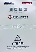 Гидрогелевая защитная пленка на Nokia C3 на весь экран прозрачная, фото 3