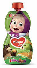 "Дитяче  фруктове  пюре Маша i Ведмiдь ""Яблуко ,груша ,банан,абрикос""  100 гр від 6 міс"