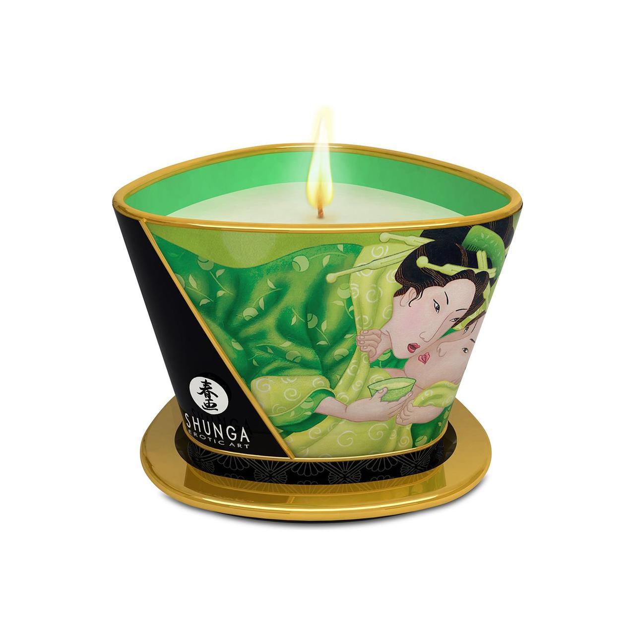 Массажная свеча Shunga MASSAGE CANDLE - Exotic Green Tea (170 мл)