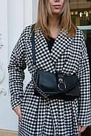 Маленькая женская сумка 63004 черная кросс-боди через плечо, фото 1